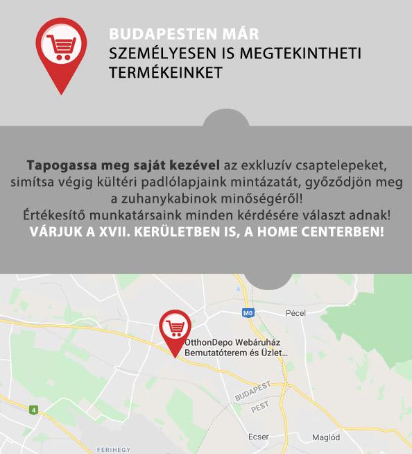 Budapesten két helyen is megtekintheti termékeinket!
