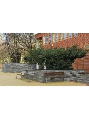 Semmelrock, Castello kerítéselem, Kerítés fedlap szürke-fekete antikolt