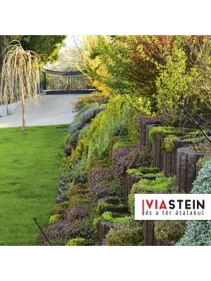 Viastein, Lunetto mini növényedény szürke 30x25x20cm