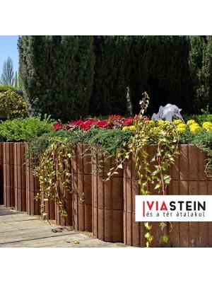 Viastein, Lunetto mini növényedény barna 30x25x20cm