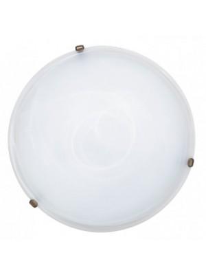 Rábalux, Alabastro 50x50cm mennyezeti lámpa, bronz lemezrögzítőkörömmel, 3739
