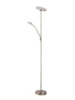 Rábalux, Aaron, LED állólámpa olvasókarral, bronz, 4163