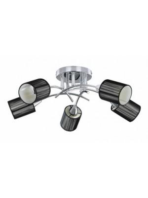 Rábalux, Veda Menny.lámpa, E14 5x9W króm, fekete, 6002