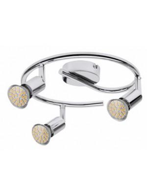Rábalux, Norton LED, 3-spot GU10/3W LED króm, 6989