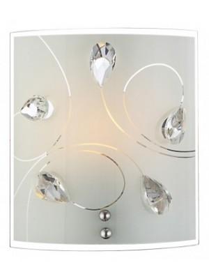 Globo, Alivia, Falikar,üveg, K5 kristály dekor LxB:170x190, AL:80, exkl. 1xE27 60W 230V, 40414-1W
