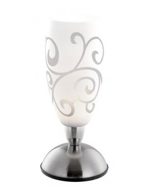 Globo, Auriga, Asztali lámpa,  matt króm, üveg 1XE14 40W touchdimmer,D:125, H:280,, 21922