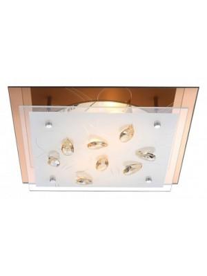 Globo, Ayana, Mennyezeti lámpa, üveg, K5 kristály dekor  LxBxH:335x335x85, exkl. 2xE27 ILLU 40W 230V, 40412-2