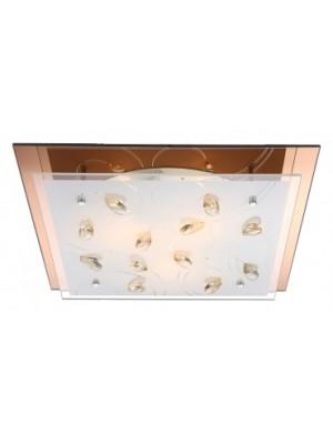 Globo, Ayana, Mennyezeti lámpa, üveg, K5 kristály dekor LxBxH:420x420x85, exkl. 3xE27 ILLU 40W 230V, 40412-3