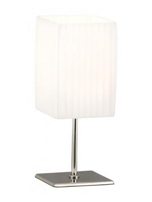 Globo, Bailey, Asztali lámpa, króm, textil fehér, LxBxH:100x100x260, exkl. 1xE14 40W 230V, 24660
