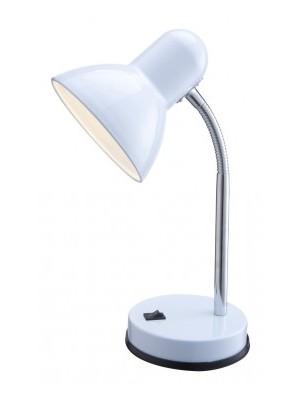 Globo, Basic, Asztali lámpa,  fehér, króm,  D:130, H:330, exkl. 1xE27 40W 230V, 2485