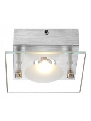 Globo, Berto, Fali lámpa, aluminium, üveg, LED, BxH:120x120, AL:60, inkl. 1xLED 5W 10,5V, 332lm, 3200K, 49200-1
