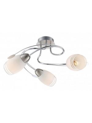 Globo, Bosporus, Mennyezeti lámpa, matt króm,  üveg,  D:420, H:200, exkl. 3xE14 40W 230V, 54283-3