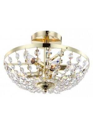 Globo, Cardinalis, Mennyezeti lámpa,  sárgaréz, K5 kristály, D:400, H:280, exkl. 6xE14 40W 230V, 47006-6