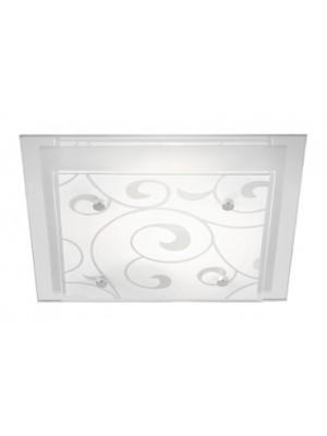 Globo, Dia, Mennyezeti lámpa,  króm, üveg, LxBxH:335x335x80, exkl. 2xE27 ILLU 60W 230V, 48062-2