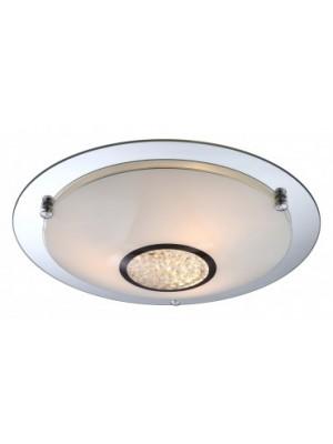 Globo, Edera, Mennyezeti lámpa,  króm,üveg, K5 kristály dekor, D:415, H:90, exkl. 3xE27 ILLU 60W 230V, 48339-3