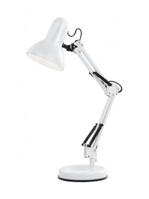 Globo, Famous, Asztali lámpa, fém, fehér,LxH:240x590, exkl. 1xE27 40W 230V                         , 24881