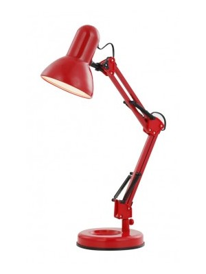Globo, Famous, Asztali lámpa, fém, vörös,  LxH:240x590, exkl. 1xE27 40W 230V, 24882