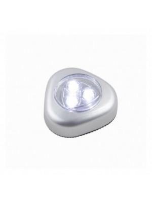 Globo, Flashlight, Éjszakai fény 3x0,21W LED touchdimmer, elemmel  3xAAA 1,5V, LxBxH:65x26x67, inkl. 3xLED 0,21W 5V, 20l