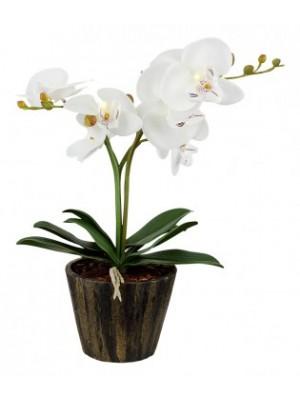 Globo, Flowerpower, Orchid virágcserép akril  fehér  7xLED 0,06W 4.5V, elemmel együtt,1,5V, D:250, H:370, inkl. , 28002