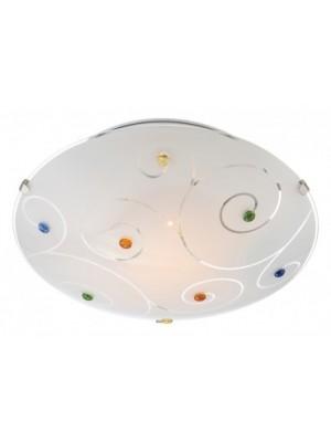Globo, Fulva, Mennyezeti lámpa, króm, üveg, D:250, H:75, exkl. 1xE27 ILLU 60W 230V, 40983-1