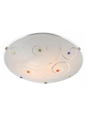 Globo, Fulva, Mennyezeti lámpa, króm, üveg,D:300, H:85, exkl. 2xE27 ILLU 60W 230V, 40983-2