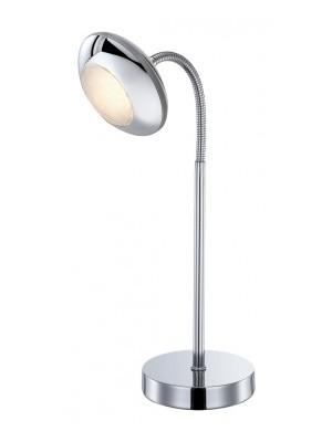 Globo, Gilles, Asztali lámpa,   króm,akril LxBxH:230x110x435, inkl. 1xLED 5W 160V, 320lm, 3000K, 56217-1T