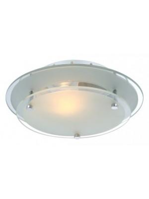 Globo, Indi, Mennyezeti lámpa,  króm,tükör,üveg, D:230, H:75, exkl. 1xE27 60W 230V, 48167