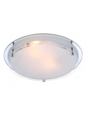 Globo, Indi, Mennyezeti lámpa,  króm,tükör,üveg, D:315, H:85, exkl. 2xE27 ILLU 60W 230V, 48167-2