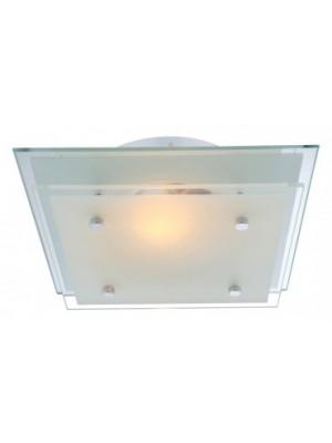 Globo, Indi, Mennyezeti lámpa,  króm,tükör,üveg, LxBxH:220x220x75, exkl. 1xE27 60W 230V, 48168