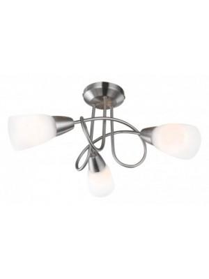 Globo, Indira, Mennyezeti lámpa,   matt króm,üveg opál,D:400, H:280, exkl. 3xE14 40W 230V, 67132-3