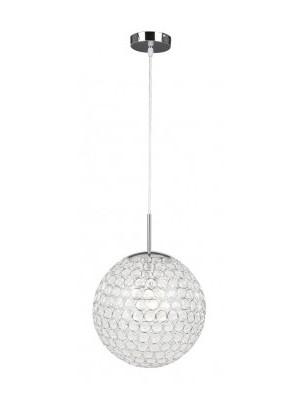 Globo, Konda, Függeszték fényes króm,kristály dekor,1xE27 60W,D:300, H:1550, 16004