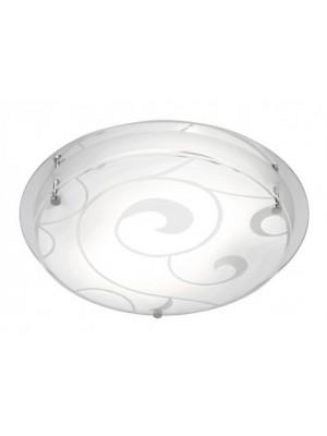 Globo, Kristjana, Mennyezeti lámpa,  króm, üveg ,D:320, H:85, exkl. 2xE27 ILLU 60W 230V, 48060-2