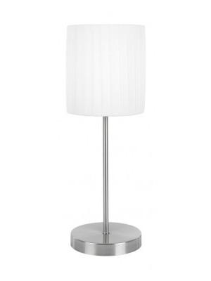 Globo, La nube, Asztali lámpa,  lmatt króm, fehér selyem touchdimmer, D:160, H:180, exkl. 1xE14 40W 230V, 15105T