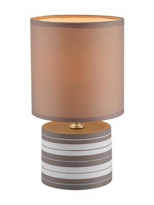Globo, Laurie, Kerámia asztali lámpa, terrakotta, csíkokra, 1xE14 40W 230V,D:140, H:260, , 21663
