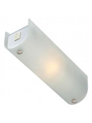 Globo, Line, Tükörvilágító lámpa,  króm, üveg szatén  búra  LxBxH:250x70x75, AL:75, exkl. 1xE14 40W 230V, kapcsolóval, 4