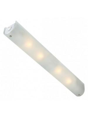 Globo, Line, Tükörvilágító lámpa,  króm, üveg szatén  búra,LxBxH:650x70x75, AL:75, exkl. 4xE14 40W 230V,kapcsolóval, 410