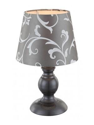 Globo, Metalic, Asztali lámpa, sötét szürke,  szövet  ernyővel1xE14 40W 230V.D:170, H:280, 21693