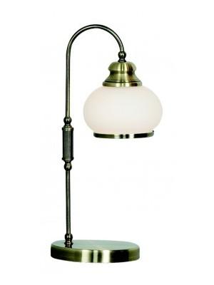 Globo, Nostalgika, Asztali lámpa,  bronz,üveg opál,LxH:180x400, exkl. 1xE14 40W 230V, 6900-1T