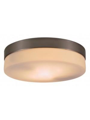 Globo, Opal, Mennyezeti lámpa,  matt króm, üveg opál, D:240, H:65, exkl. 2xE27 ILLU 40W 230V, 48402