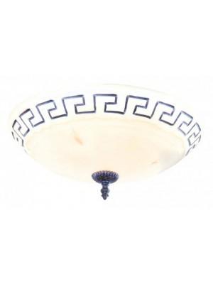 Globo, Rustica, Mennyezeti lámpa,  antik, üveg alabástrom D:400, H:180, exkl. 2xE27 60W 230V, 6889