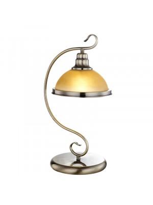 Globo, Sassari, Asztali lámpa,  bronz, üveg gyertyán sárga 1xE27 60W, 6905-1T
