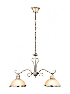 Globo, Sassari, Csillár bronz, üveg gyertyán sárga LxH:635x1360, exkl. 2xE27 60W 230V, 6905-2