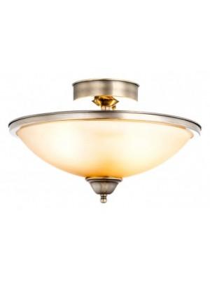 Globo, Sassari, Mennyezeti lámpa,  bronz,, üveg gyertyán sárga D:410, H:260, exkl. 2xE27 60W 230V, 6905-2D