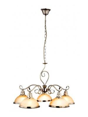 Globo, Sassari, Csillár bronz, üveg gyertyán sárga D:650, H:1380, exkl. 5xE27 60W 230V, 6905-5