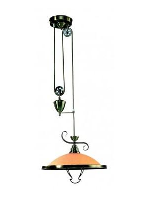 Globo, Sassari, Függeszték,bronz, üveg gyertyán sárga állítható D:410, H:1575, exkl. 1xE27 60W 230V, 6905Z