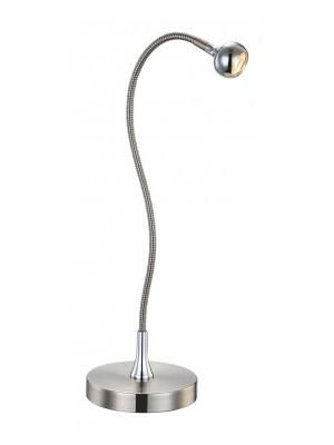 Globo, Serpent, Asztali lámpa,  szatén króm, BxH:450x500, inkl. 1xLED 3W 3,6V, 150lm, 3000K, 24109