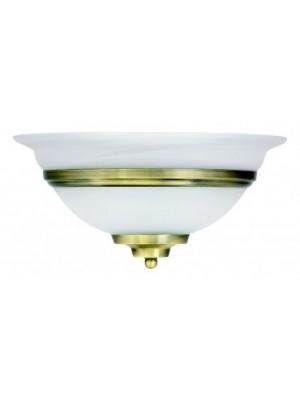 Globo, Toledo, Falikar, bronz,üveg alabástrom LxH:310x160, exkl. 1xE27 60W 230V, 6897