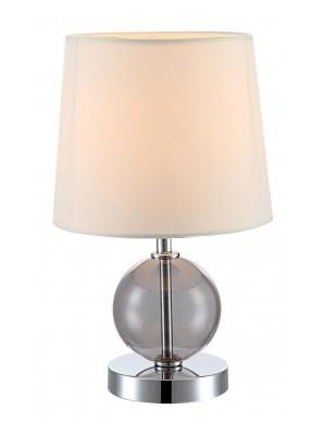 Globo, Volcano, Asztali lámpa, króm, üveg  bézs ernyő 1xE14 40W 230V,D:180, H:300,, 21665