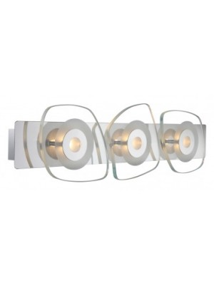 Globo, Zarima, Falikar króm,üveg, LxB:480x130, AL:65, inkl. 3xLED 4,5W 9V, 360lm, 3000K, 41710-3