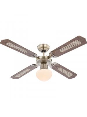 Globo, Champion, Mennyezeti ventillátor, lámpa, láncos húzókapcsolóval 0309